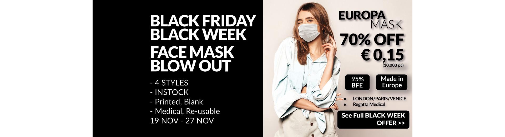 Black week offer masks